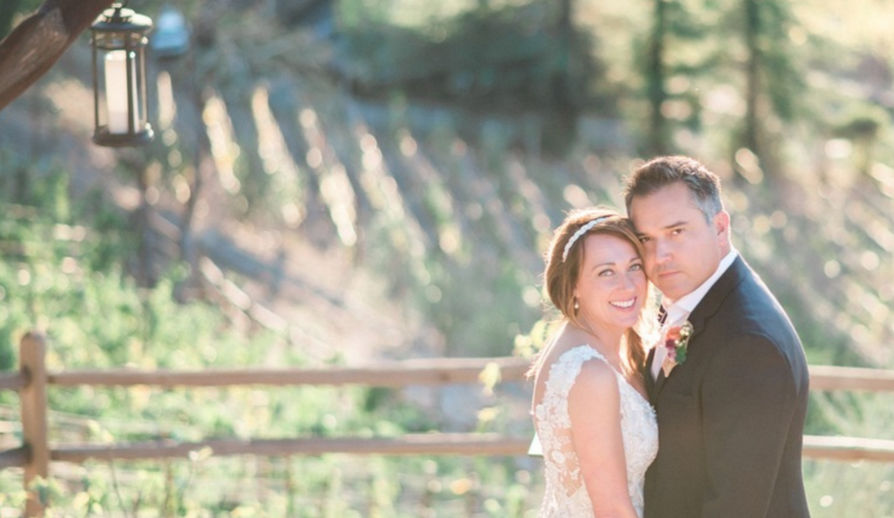 wine country wedding bride groom