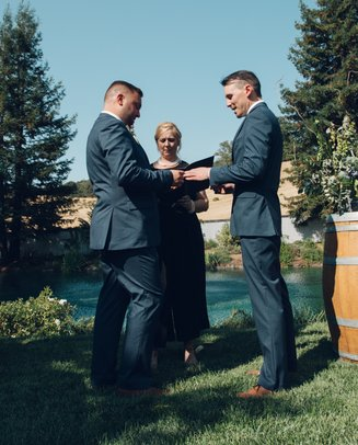 mountain house estate wedding, two grooms, gay wedding, sonoma county wedding, rustic wedding, wine country wedding, lgbtq wedding, gay wedding ceremony