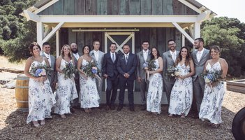 mountain house estate wedding, two grooms, gay wedding, sonoma county wedding, rustic wedding, wine country wedding, lgbtq wedding, bridal party photos