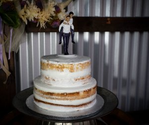 mountain house estate wedding, two grooms, gay wedding, sonoma county wedding, rustic wedding, wine country wedding, lgbtq wedding, naked cake, two grooms cake topper