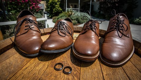 mountain house estate wedding, two grooms, gay wedding, sonoma county wedding, rustic wedding, wine country wedding, lgbtq wedding, grooms shoes, lgbtq detail photos